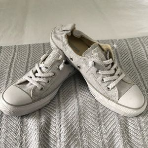 New Converse sneakers size 9 light grey